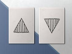 Modern Art Print. Geometric Wall Art. Black and White Triangle. Minimalist Print. Contemporary Wall Art. Geometric Print. Coffee Bar Decor by StinkyDoodles on Etsy