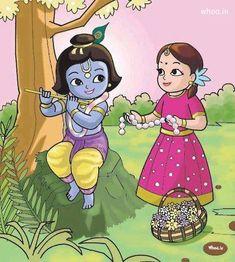 Krishna Radha Love Wallpaper Like Small Cartoon Krishna Leela, Radha Krishna Love, Krishna Radha, Hanuman, Little Krishna, Cute Krishna, Krishna Drawing, Krishna Painting, Lord Krishna Wallpapers