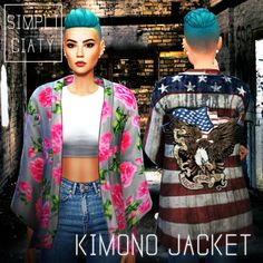 Sims 4 CC's - The Best: Kimono Jacket by Simpliciaty