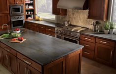 brown cabinets gray countertops - Google Search