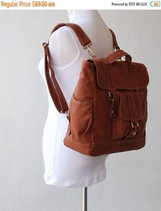 SALE 30% Pico2 Backpack in Wax Canvas Old Army Brown by nottoc