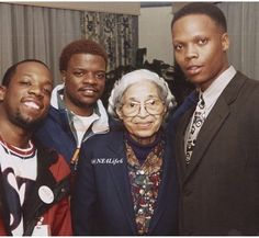 Bell, Biv and DeVoe with Rosa Parks New Jack Swing, Vintage Black Glamour, Cute Celebrities, Celebs, Black Image, Black Pride, Now And Forever, Historical Pictures, African American History
