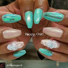 #acrylicnails by #princessgard #NailsOnInstagram