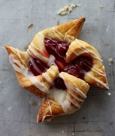 Danish pinwheel pastry. My girl Farah made a batch today, and topped it off with vanilla cream cheese frosting. Mmmm