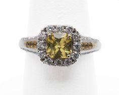 Yellow Sapphire and Diamond Ring    Price on Request : info@carrerasjewelers.com    www.carrerasjewelers.com