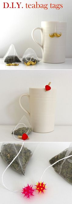 Cute Charms Attached to Tea Bags / 50 Tiny And Adorable DIY Stocking Stuffers (via BuzzFeed)