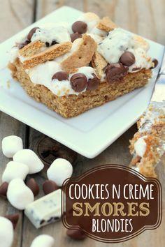 Cookies N Creme Smores Blondies