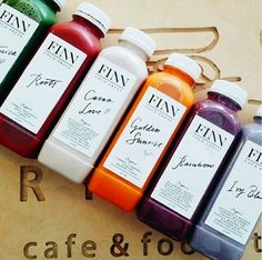 Finn organic drinks - love the way of handwriting and font