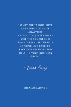 Entrepreneur advice from Laura Trevey on The Southern C blog.