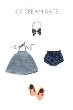 Ice Cream Date // Summer Adventure Outfits for Littles // Free Babes Handmade