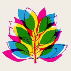 Blossom - Art Print by Garima Leaf Art, Art And Illustration, Op Art, Color Theory, Prints For Sale, Art Google, Screen Printing, Print Patterns, Artsy