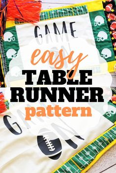 Sew Simple Home: How to Sew a Table Runner Free Cut Files Sewing Patterns For Kids, Easy Sewing Projects, Sewing Projects For Beginners, Sewing Tutorials, Halloween Sewing, Fall Sewing, Make Bias Tape, Sew Simple, Table Runner Pattern