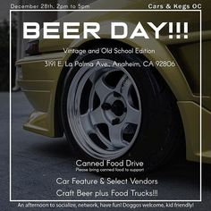 Mark your calendars! Our friends at are hosting another food drive at in Anaheim CA on Saturday December They are featuring old school and vintage cars so come out with your Datsun! Datsun 280z, Canned Food Drive, Beer Day, Craft Beer, Brewery, Vintage Cars, Old School, Have Fun, December
