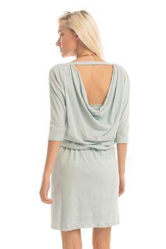 Tissue Knit Gallery Dress in Dusk Blue