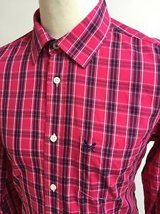 PAUL SMITH Mens CHECK Shirt BLUE WHITE GREY Size Medium Slim Fit ...