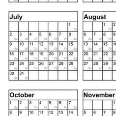 2017 Calendars Printable Mini For Crafts Planners PDF File