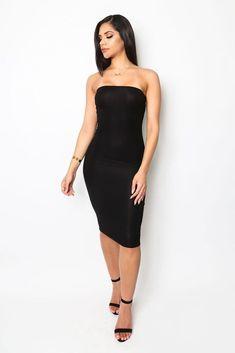 7247b638f8 21 Amazing black tube dress images
