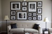 Creative family portrait wall