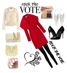 """Rock the vote in style"" by theowlgoddess ❤ liked on Polyvore featuring Paige Denim, Keepsake the Label, Bobbi Brown Cosmetics, Jules Smith, Vélizance, Chanel and Dolce&Gabbana"