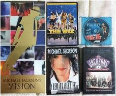 For sale on eBay MICHAEL JACKSON lot - 8 DVD movies/films: Vision, This Is It, The Wiz, Jackson 5