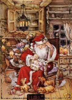 Old fashioned illustration of St. Nicholas....(Lisi Martin)