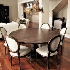 Round Tables Joliet, IL - Rustic Elements Furniture 60 Inch Round Table, Round Tables, Custom Furniture, Home Kitchens, Dining Table, Rustic, Wood, House, Home Decor