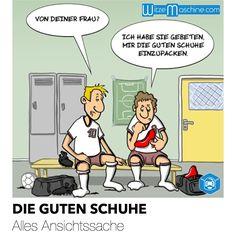 Fussball Witze - Frauenschuhe | WitzeMaschine