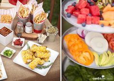 Spice up your summer BBQ with a mouthwatering tablescape and gourmet burger bar!