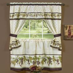 Tuscany Kitchen Cottage Window Treatment Set