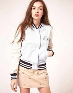 Lacoste Live Varsity Jacket.  Want! So sad it's out of stock