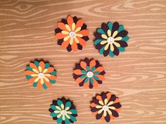 Handmade Small Paper Flowers - 6 Pack by cemFLORAL on Etsy