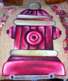 Hey, I found this really awesome Etsy listing at https://www.etsy.com/listing/173913483/fire-fighter-fire-hydrant-hand-painted