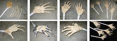 How to make zombie hands! Halloween Office, Halloween Prop, Diy Halloween Decorations, Halloween Crafts, Halloween Ideas, Diy Paper, Paper Art, Zombie Hands, Macabre