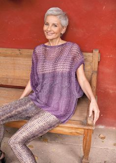 Gabriela Rickli silver gray hair- who says we have to dress like grannies when we have gray hair?