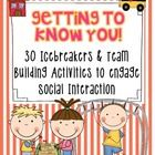 Welcome back to School! The 30 activities in this set will not only build a sense of community in your classroom; it will help your students feel confident and comfortable in your room.