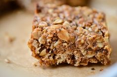 ***Quinoa Granola Bars. Good. More like baked oatmeal bars. I used almond butter and only 1 cup oats, raisins instead of chocolate, and added 1/2 teaspoon vanilla and 1/4 teaspoon sea salt. Baked for 15 minutes.