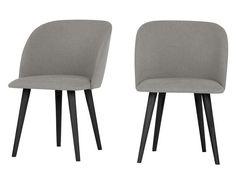 2 x Stig Dining Chairs, Manhattan Grey and Black