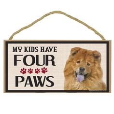 Imagine This Wood Breed Four Paws Sign, Chow >>> Discover this special dog product, click the image : Dog Memorials