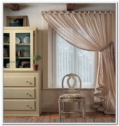 Put Curtains Over Vertical Blinds. In love with these curtains