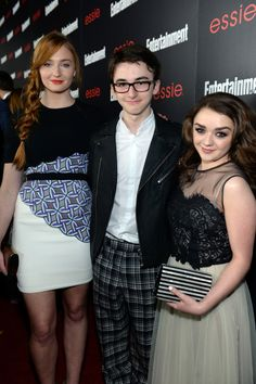 Sophie Turner, Isaac Hempstead-Wright and Maisie Williams at the Entertainment Weekly Celebration of the 2014 SAG Awards