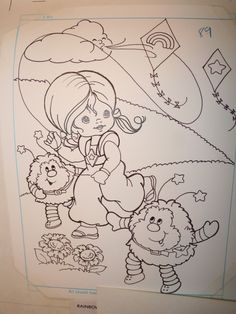 Rainbow Brite Coloring Book