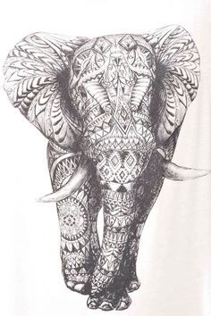 art girl Black and White fashion white hippie hipster design boho indie dream peace pattern girly mandala elephany bbblondieee Backgrounds Indian Elephant, Elephant Love, Elephant Art, Elephant Tattoos, Elephant Design, Elephant Sketch, Mandala Elephant, Elephant Pattern, Zentangle Elephant