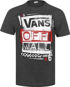 VANS TEE SHIRT   back Home Vans Stenciled T-shirt black