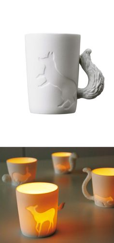 Fox Mug - can be used as a votive holder