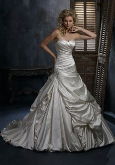 I like this satin dress. It's a beautiful dress, but I don't think it would work for outdoors.