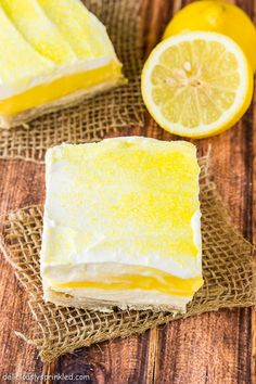 Lemon Pie Bars made with refrigerated pie crust - so easy to make these citrus-packed treats!