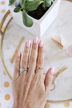 Gold Stud Manicure DIY | A Beautiful Mess | Bloglovin'