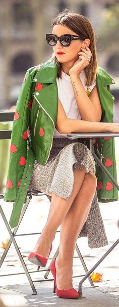 Heart Applique Biker Jacket Fall Inspo by Lovely Pepa