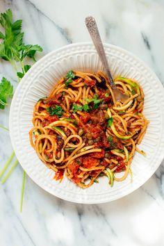 Vegan Spaghetti alla Puttanesca - Cookie and Kate