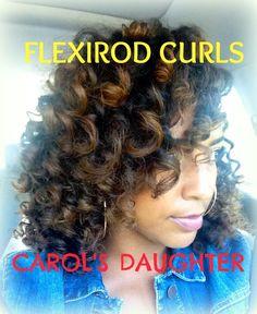Natural Hair   Flexirod Tutorial ft. Carol's Daughter